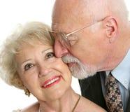 seniorzy miłości. Zdjęcie Royalty Free