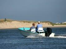 seniorzy na łodzi obrazy stock