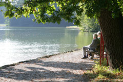 seniorzy park Zdjęcie Royalty Free