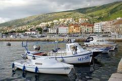 Senj, Kroatien Kanal Stockbild