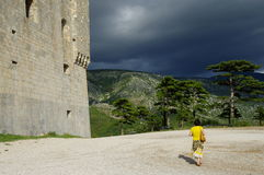 Senj, Nehaj fortress. Storm is coming. Royalty Free Stock Images