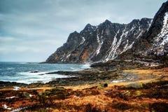Senja Νορβηγία Bleik Στοκ Φωτογραφίες