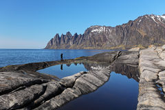 Senja island,Norway, Mefjorden Stock Photos