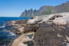Senja, Noruega Imágenes de archivo libres de regalías