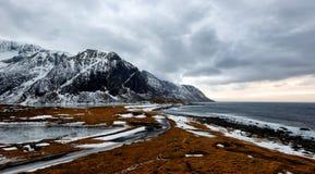 Senja Noruega Eggum foto de stock