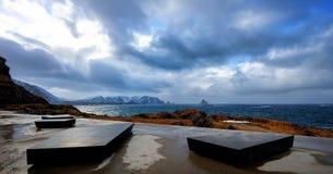 Senja Noruega Kleivodden Imagem de Stock Royalty Free