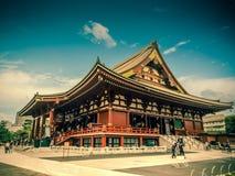 Senjoji tempel på Asakusa, Tokyo Japan Arkivfoton