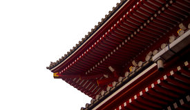 Senjoji temple roof isolated on white Stock Photo