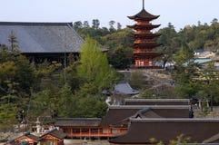 Senjokaku Temple, Miyajima, Japan Royalty Free Stock Photo
