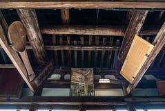 Senjokaku (Toyokuni Shrine) on Miyajima Island. Miyajima, Japan - May 6, 2016: Interior of Senjokaku (Toyokuni Shrine) on Miyajima Island. Miyajima island is a royalty free stock photography