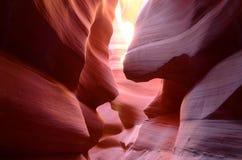 Senken Sie Antilopen-Schlucht in der Seite, Arizona, US Lizenzfreies Stockbild