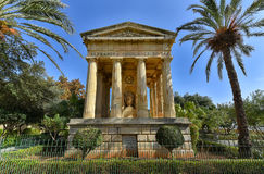 Senken Sie Barrakka-Gärten Valletta Malta stockbilder