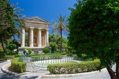 Senken Sie Barrakka-G?rten, Valletta, Malta stockbilder