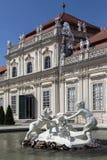 Senken Sie Belverdere-Palast - Wien - Österreich stockbilder