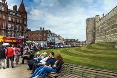 Senken Sie Bezirk in mittelalterlicher Windsor Castle Stockfoto
