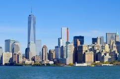 Senken Sie mahattan und ein World Trade Center Lizenzfreie Stockfotos