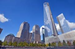 Senken Sie mahattan und ein World Trade Center Lizenzfreies Stockfoto