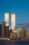 Senken Sie mahattan und World Trade Center Lizenzfreie Stockfotos