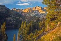 Senken Sie Sardine See, Nordkalifornien Stockfotos