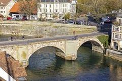 Senken Sie Tor-Brücke in Bern, die Schweiz Stockbilder