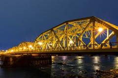 Senken Sie Trenton Bridge an der Dämmerung Stockbild