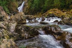 Senken Sie Twin Falls, Washington State Stockbild