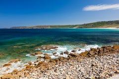 Sennen Bucht Cornwall Stockfotografie