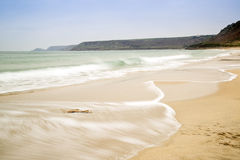 Sennen Cove beach before sunset Stock Photography