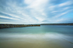 Sennen cove breakwater Royalty Free Stock Photography