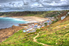 Sennen Cove Cornwall England UK near Lands End on the South West Coast Path in HDR Royalty Free Stock Image