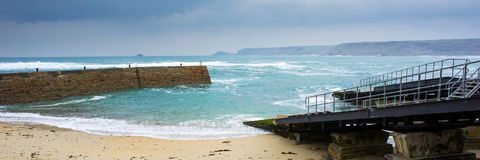 Sennen Cove Winter Cornwall Royalty Free Stock Photo
