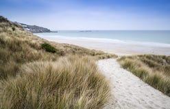Sennen zatoczki piaska i plaży diuny Zdjęcia Royalty Free