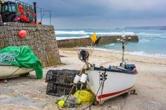 Sennen zatoczki zima Cornwall Zdjęcie Royalty Free