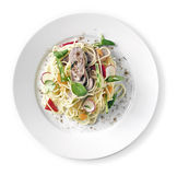 Seno di anatra dell'arrosto dei wok Fotografie Stock
