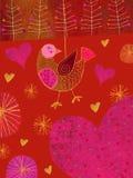 Seno di colore rosso di Robin Immagine Stock Libera da Diritti