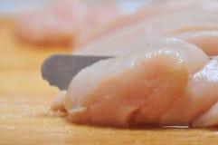 Seno di pollo dell'alimento di Preperation Immagini Stock Libere da Diritti