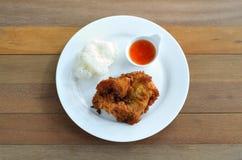 Seno di pollo fritto Fotografia Stock