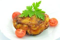Seno di pollo fritto delizioso Fotografia Stock
