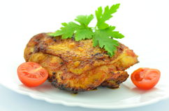 Seno di pollo fritto delizioso Fotografia Stock Libera da Diritti