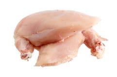 Seno di pollo senza pelle Immagini Stock Libere da Diritti