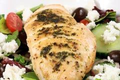 Seno ed insalata di Chiken Fotografie Stock