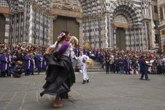 Senor de los Milagros à Gênes photo libre de droits