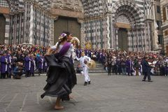 Senor de los Milagros in Genoa royalty free stock photo