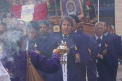 Senor de los Milagros in Genoa stock photo