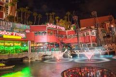 Senor Frogs Treasure Island Las Vegas en la noche Foto de archivo
