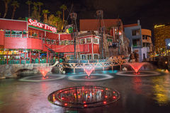 Senor Frogs Treasure Island Pirates Cove Las Vegas at night Stock Photos