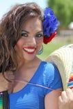 Senorita feliz Foto de archivo