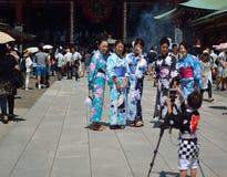 """SensÅ- - ji é ‡ ` é ¾  山浅 è  ‰ 寺 KinryÅ """"- zan SensÅ- - ji ist ein alter buddhistischer Tempel, der in Asakusa, Tokyo,  Lizenzfreies Stockbild"""