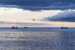 Sens crépusculaire de mer Image stock