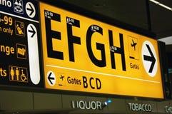 Sens d'aéroport Photos stock